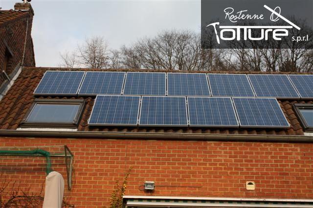 Panneau photovoltaïque, à Namur, Liège, Brabant, Bruxelles. Toiture et énergie